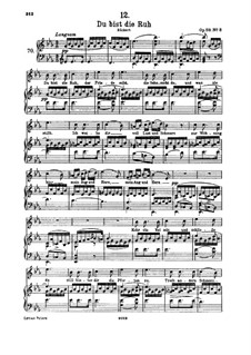 Du bist die Ruh (You are Repose), D.776 Op.59 No.3: For high voice and piano by Franz Schubert