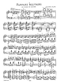 Fanfare militaire, Op.40: For piano by Joseph Ascher