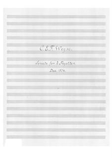 Sonata for Two Bassoons: Sonata for Two Bassoons by Christopher Ernst Friedrich Weyse