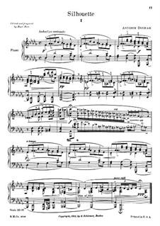 Silhouettes, B.32 Op.8: No.2 in D Flat Major by Antonín Dvořák