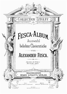 Six Songs, Op.29: Nr.1 Liebesbotschaft by Alexander Fesca