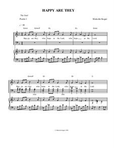 Psalm 1; Happy Are They: Psalm 1; Happy Are They by Malcolm Kogut