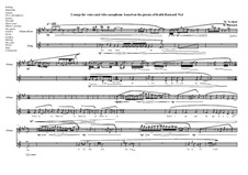 2 songs for voice and Alto saxophone based on the poems of Keith Barnard: Song No.1, MVWV 788 by Maurice Verheul