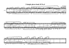 5 Simple pieces for piano: Tenth book No.4, MVWV 784 by Maurice Verheul