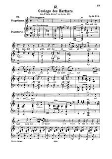 No.1 Wer sich der Einsamkeit ergibt: A minor, for high voice and piano by Franz Schubert