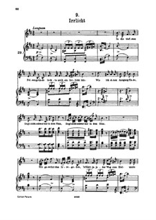 No.9 Irrlicht (Will o' the Wisp): For high voice and piano by Franz Schubert