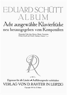 5 Klavierstücke. Humoreske, Op.8 No.11: 5 Klavierstücke. Humoreske by Eduard Schütt
