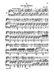 Lob der Tränen (In Praise of Tears), D.711 Op.13 No.2: For high voice and piano by Franz Schubert