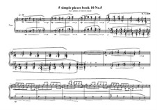 5 Simple pieces for piano: Tenth book No.5, MVWV 785 by Maurice Verheul