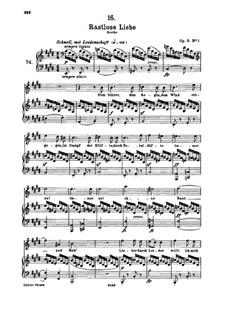 Rastlose Liebe (Restless Love), D.138 Op.5 No.1: For high voice and piano by Franz Schubert