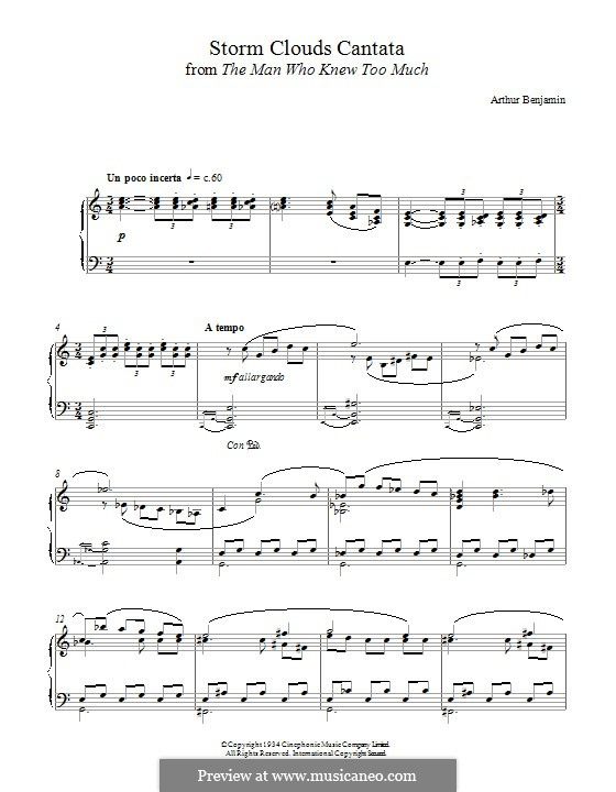 The Storm Clouds Cantata: For piano by Arthur Benjamin
