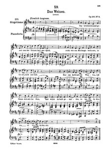 Das Weinen (Weeping), D.926 Op.106 No.2: For high voice and piano by Franz Schubert
