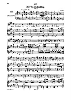 Der Wachtelschlag (Song of the Quail), D.742 Op.68: For high voice and piano by Franz Schubert