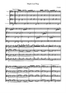 Maple Leaf Rag: For string quartet by Scott Joplin