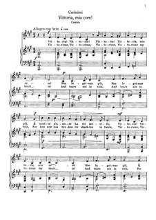 Vittoria, mio core: For mezzo-soprano and piano by Giacomo Carissimi