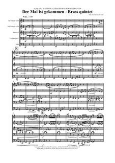Der Mai ist gekommen: For brass quintet by folklore