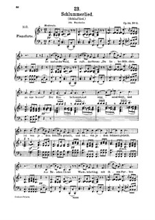 Le berceuse (Slumber Song), D.527 Op.24 No.2: For high voice and piano by Franz Schubert