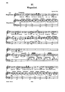 Wiegenlied (Cradle Song), D.867 Op.105 No.2: For high voice and piano by Franz Schubert