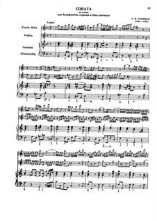 Trio Sonata in A Minor, TWV 42:a4: Score, parts by Georg Philipp Telemann