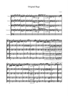 Original Rags: For string quintet by Scott Joplin