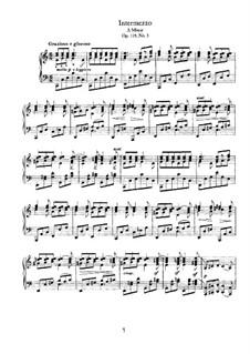 Four Pieces, Op.119: No.3 Intermezzo in C Major by Johannes Brahms