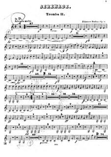 Serenade No.1 in D Major, Op.11: Trumpet II part by Johannes Brahms