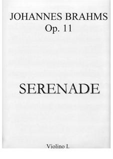 Serenade No.1 in D Major, Op.11: Violin I part by Johannes Brahms
