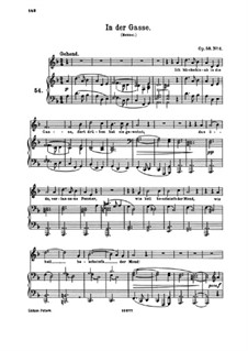Eight Songs, Op.58: No.6 In der Gasse (In the Narrow Street) by Johannes Brahms