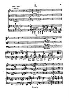 Piano Quartet No.3 in C Minor, Op.60: Movement II by Johannes Brahms