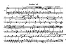 4 Ragtimes for piano: Ragtime No.2, MVWV 624 by Maurice Verheul