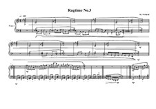 4 Ragtimes for piano: Ragtime No.3, MVWV 625 by Maurice Verheul