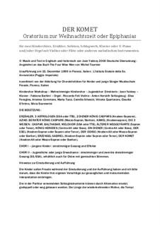 Der Komet - Oratorium zur Weihnachtszeit oder Epiphanias: Der Komet - Oratorium zur Weihnachtszeit oder Epiphanias by Joan Yakkey