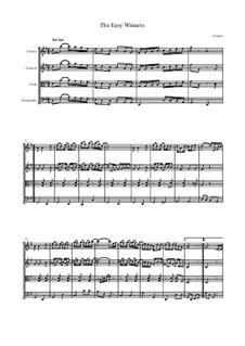 The Easy Winners: For string quartet by Scott Joplin