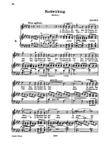 Six Songs, Op.6: No.3 Nachwirkung (Aftermath) by Johannes Brahms