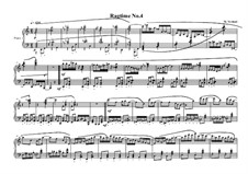 4 Ragtimes for piano: Ragtime No.4, MVWV 626 by Maurice Verheul