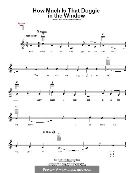 How Much is That Doggie in the Window: For ukulele by Bob Merrill