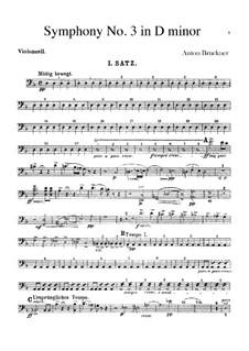 Symphony No.3 in D Minor, WAB 103: Cello part by Anton Bruckner