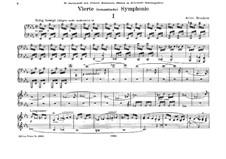 Symphony No.4 in E Flat Major 'Romantic', WAB 104: Arrangement for piano four hands by Anton Bruckner