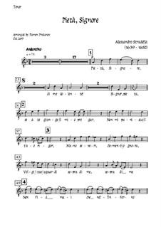 Pieta Signore: For tenor, solo oboe and strings - tenor part by Alessandro Stradella