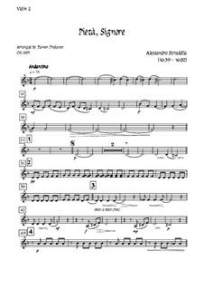 Pieta Signore: For tenor, solo oboe and strings - violin II part by Alessandro Stradella