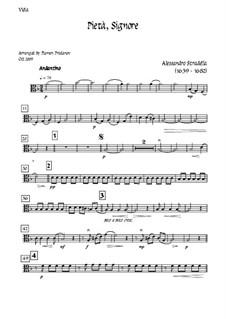 Pieta Signore: For tenor, solo oboe and strings - viola part by Alessandro Stradella