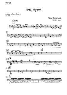 Pieta Signore: For tenor, solo oboe and strings - cello part by Alessandro Stradella