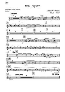 Pieta Signore: For tenor, solo oboe and strings - oboe part by Alessandro Stradella