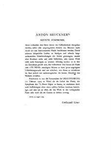 Symphony No.9 in D Minor, WAB 109: Arrangement for piano by Anton Bruckner