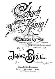 Schach dem König, Op.70: Overture, for piano by Ignaz Brüll