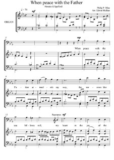 When Peace Like a River: For mixed choir and organ by Philip Paul Bliss