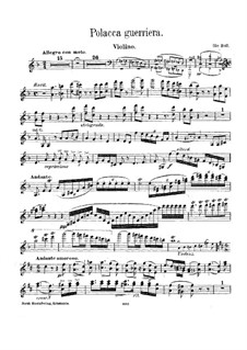 Polacca Guerriera (Violin): Polacca Guerriera (Violin) by Ole Bull
