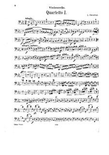 String Quartets No.1-3: Cello part by Luigi Cherubini