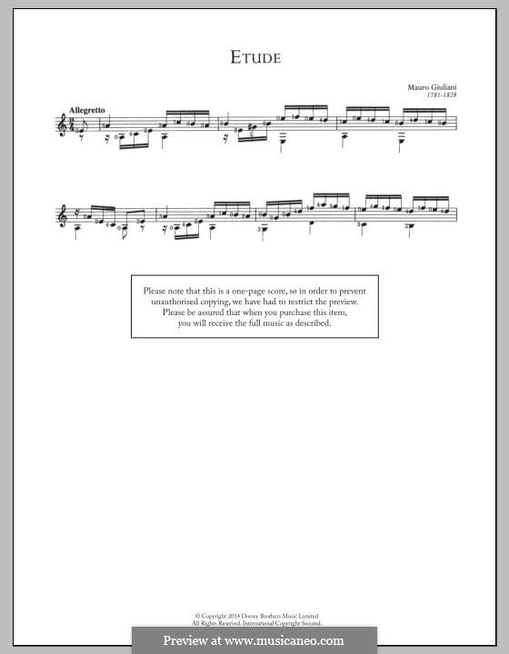 Etude: For guitar by Mauro Giuliani