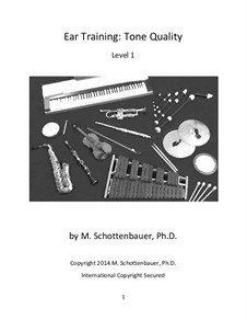 Ear Training: Tone Quality (Level 1) by Michele Schottenbauer